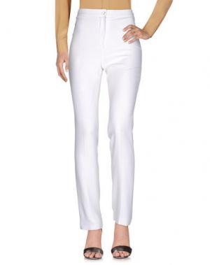 Повседневные брюки ANGELO MOZZILLO. Цвет: белый