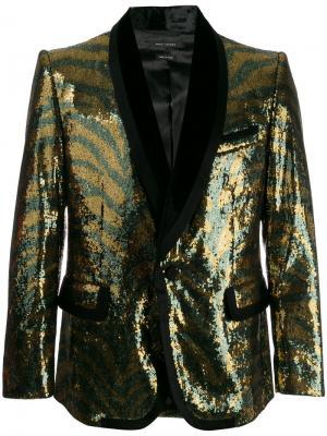 Блейзер с пайетками и тигровым узором Marc Jacobs. Цвет: металлический