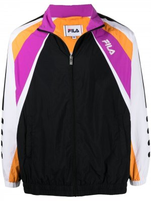 Куртка в стиле колор-блок на молнии Fila. Цвет: черный
