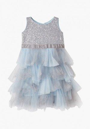 Платье Mes ami. Цвет: серый