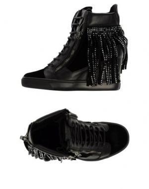 Высокие кеды и кроссовки GIUSEPPE ZANOTTI. Цвет: черный