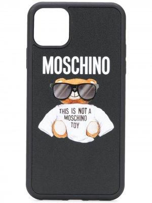 Чехол Teddy для iPhone 11 Pro Max Moschino. Цвет: черный