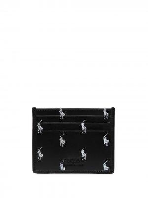 Polo Pony leather cardholder Ralph Lauren. Цвет: черный