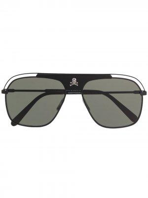 Солнцезащитные очки-авиаторы Philipp Plein. Цвет: черный