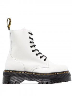 Ботинки Jadon на платформе Dr. Martens. Цвет: белый