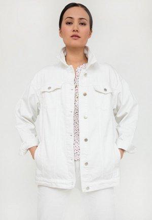 Куртка джинсовая Finn Flare. Цвет: белый