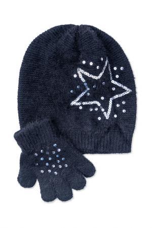Комплект: шапка, перчатки PlayToday. Цвет: черный
