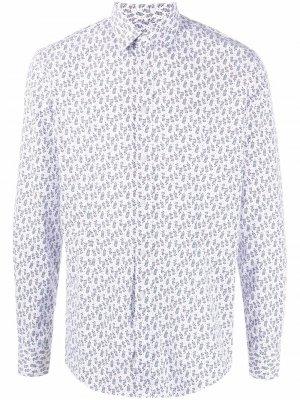 Рубашка с цветочным принтом Grey Daniele Alessandrini. Цвет: белый