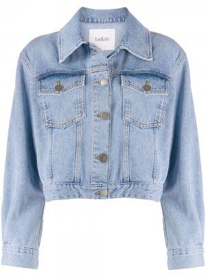 Укороченная джинсовая куртка Dilan Ba&Sh. Цвет: синий