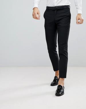 Облегающие брюки под смокинг Premium Jack & Jones. Цвет: черный