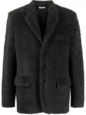 Пиджак из шерпы Marni. Цвет: серый