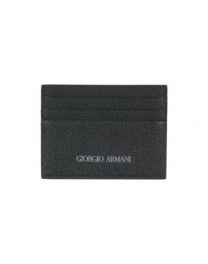 Чехол для документов GIORGIO ARMANI. Цвет: темно-синий