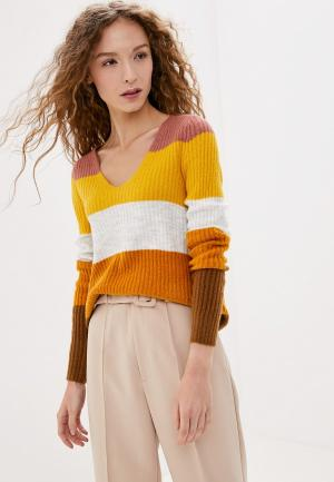 Пуловер Vila. Цвет: коричневый