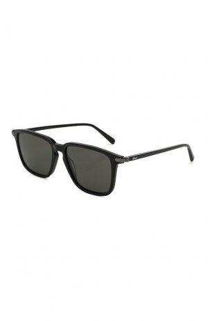 Солнцезащитные очки Brioni. Цвет: черный