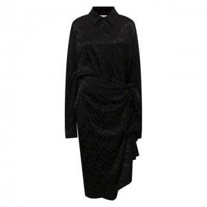 Платье Balenciaga. Цвет: чёрный