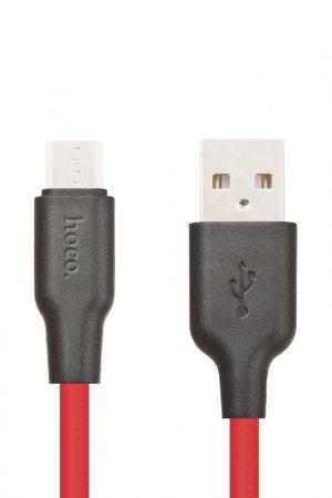 Кабель X21 Micro USB Hoco. Цвет: черно-красный