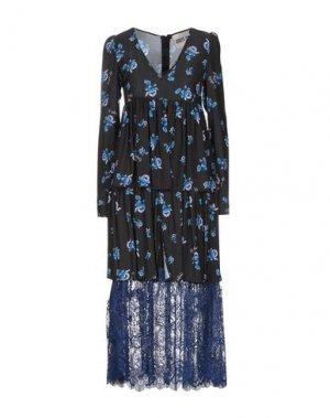 Платье длиной 3/4 ANIYE BY. Цвет: черный