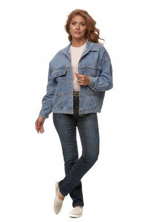 Куртка женская джинсовая с воротником МОСМЕХА