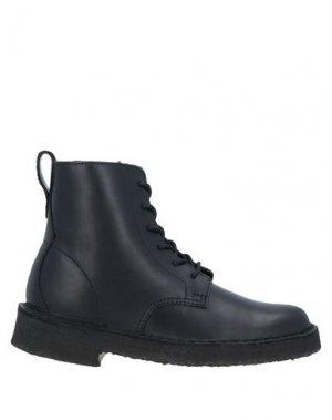 Полусапоги и высокие ботинки CLARKS ORIGINALS. Цвет: черный