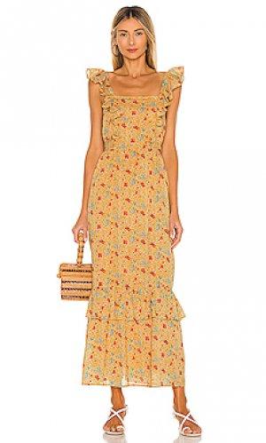 Платье cinta Banjanan. Цвет: желтый