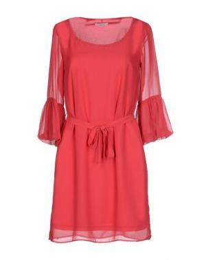 Короткое платье LUCKYLU Milano. Цвет: коралловый