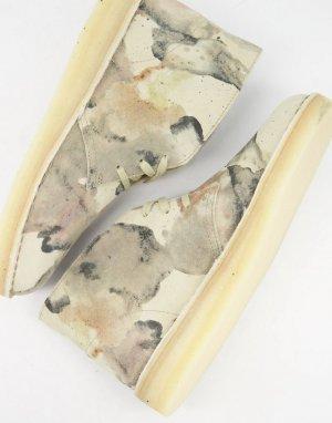 Замшевые дезерты камуфляжного цвета -Бежевый Clarks Originals