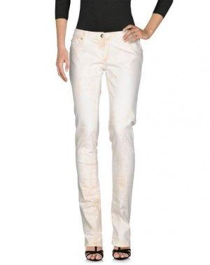 Джинсовые брюки BETTY BLUE. Цвет: слоновая кость
