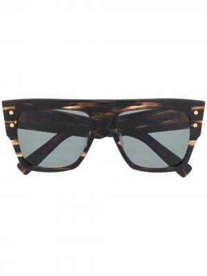 Солнцезащитные очки B-1 Balmain. Цвет: коричневый