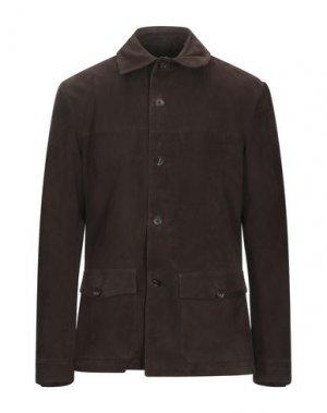 Пиджак RVL. Цвет: темно-коричневый