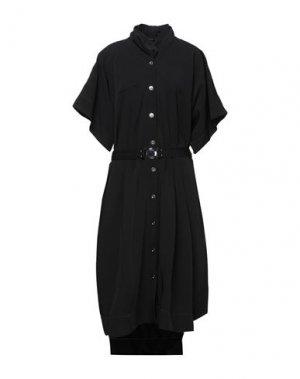 Платье длиной 3/4 HIGH. Цвет: черный