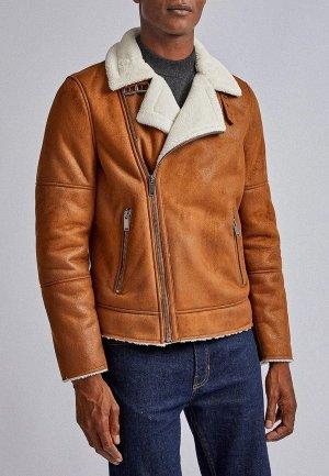 Дубленка Burton Menswear London. Цвет: коричневый