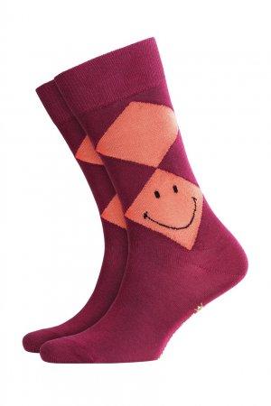 Фиолетовые носки Smiley Argyle Burlington. Цвет: фиолетовый