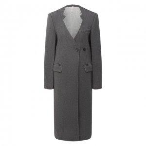 Шерстяное пальто Peter Do. Цвет: серый