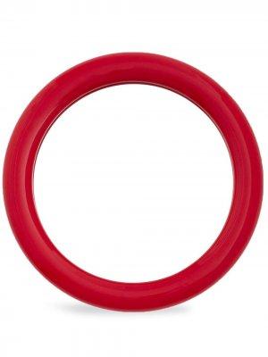 Круглое зеркало Duplum Raawi. Цвет: красный