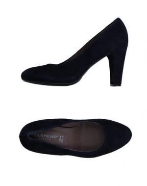 Туфли CARMENS. Цвет: темно-синий