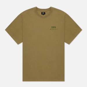 Мужская футболка  Logo Chest Edwin. Цвет: оливковый