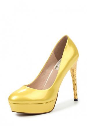 Туфли Elsi. Цвет: желтый