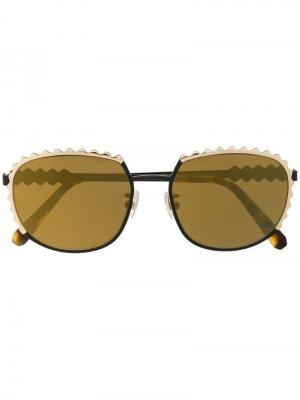 Солнцезащитные очки в квадратной оправе Philipp Plein. Цвет: золотистый