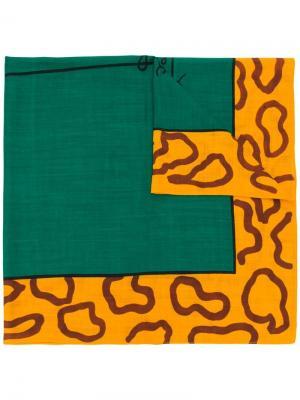 Платок 1980-х годов с леопардовым принтом JC de Castelbajac Pre-Owned. Цвет: зеленый