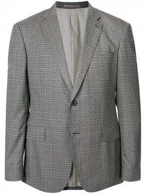 Клетчатый пиджак Kent & Curwen. Цвет: серый