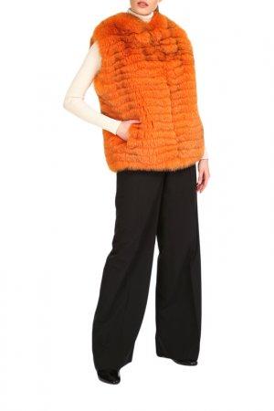 Fur vest Manakas. Цвет: orange