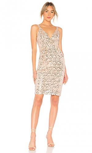 Платье JILL STUART. Цвет: металлический нейтральный