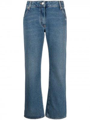 Расклешенные джинсы с логотипом Off-White. Цвет: синий