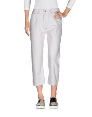 Джинсовые брюки-капри MARC BY JACOBS. Цвет: белый