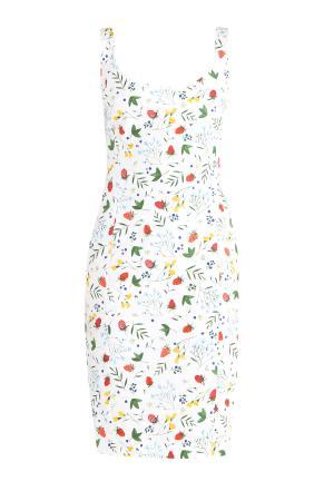 Платье из плотного хлопка кроя по фигуре с ярким набивным принтом ALEXANDER TEREKHOV. Цвет: мульти