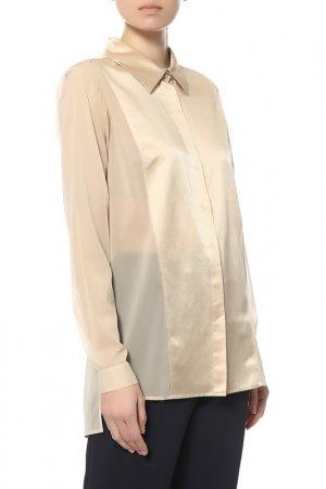 Блуза Donna Karan. Цвет: бежевый