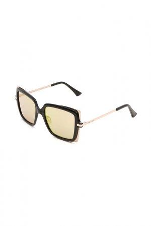 Очки солнцезащитные с линзами Italia Independent. Цвет: 009 049 черный, золотистый