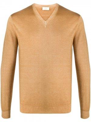 Джемпер с V-образным вырезом Altea. Цвет: коричневый