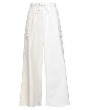 Повседневные брюки HACHE. Цвет: белый