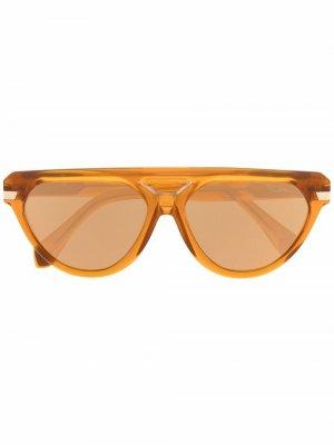 Солнцезащитные очки-авиаторы 8503 Cazal. Цвет: оранжевый